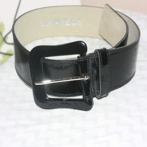 Express Square Buckle Leather Belt